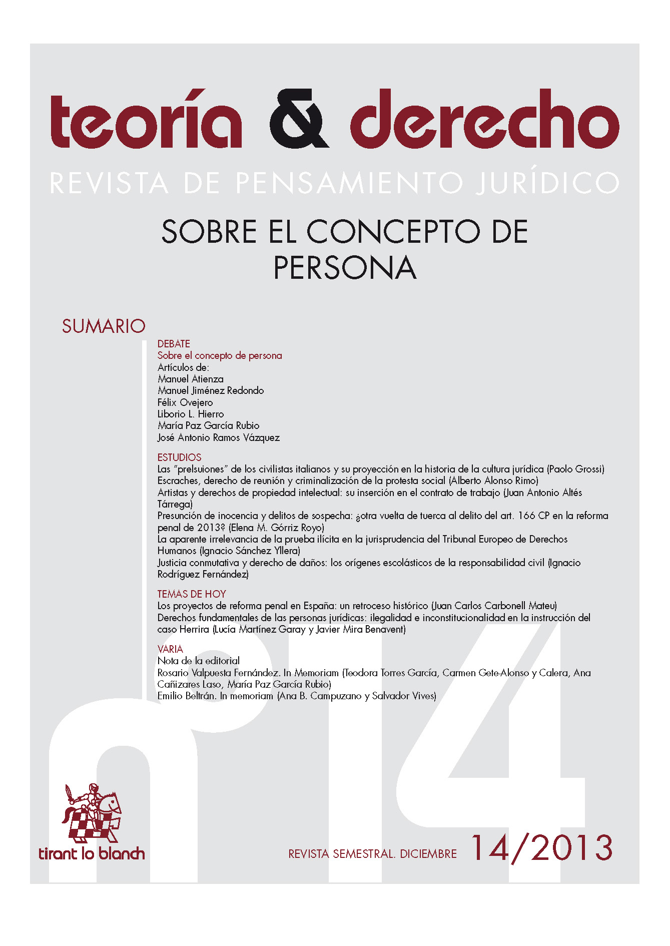Ver Núm. 14 (2013): Sobre el concepto de persona