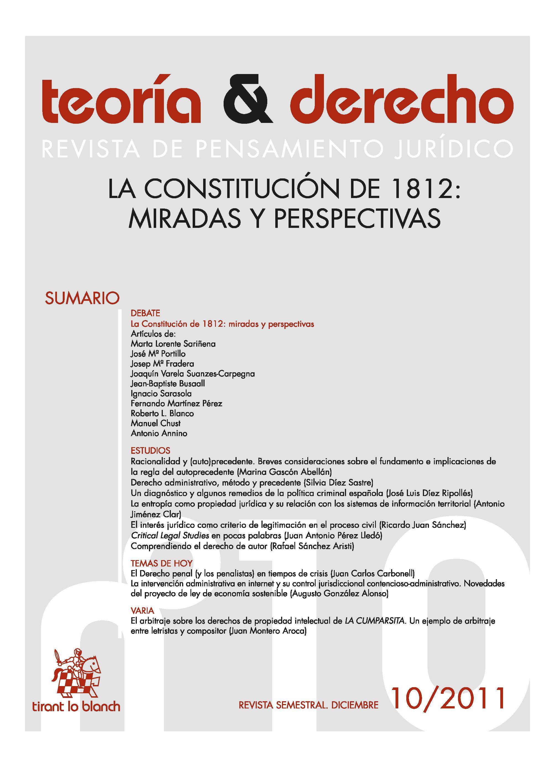Ver Núm. 10 (2011): La Constitución de 1812: miradas y perspectivas