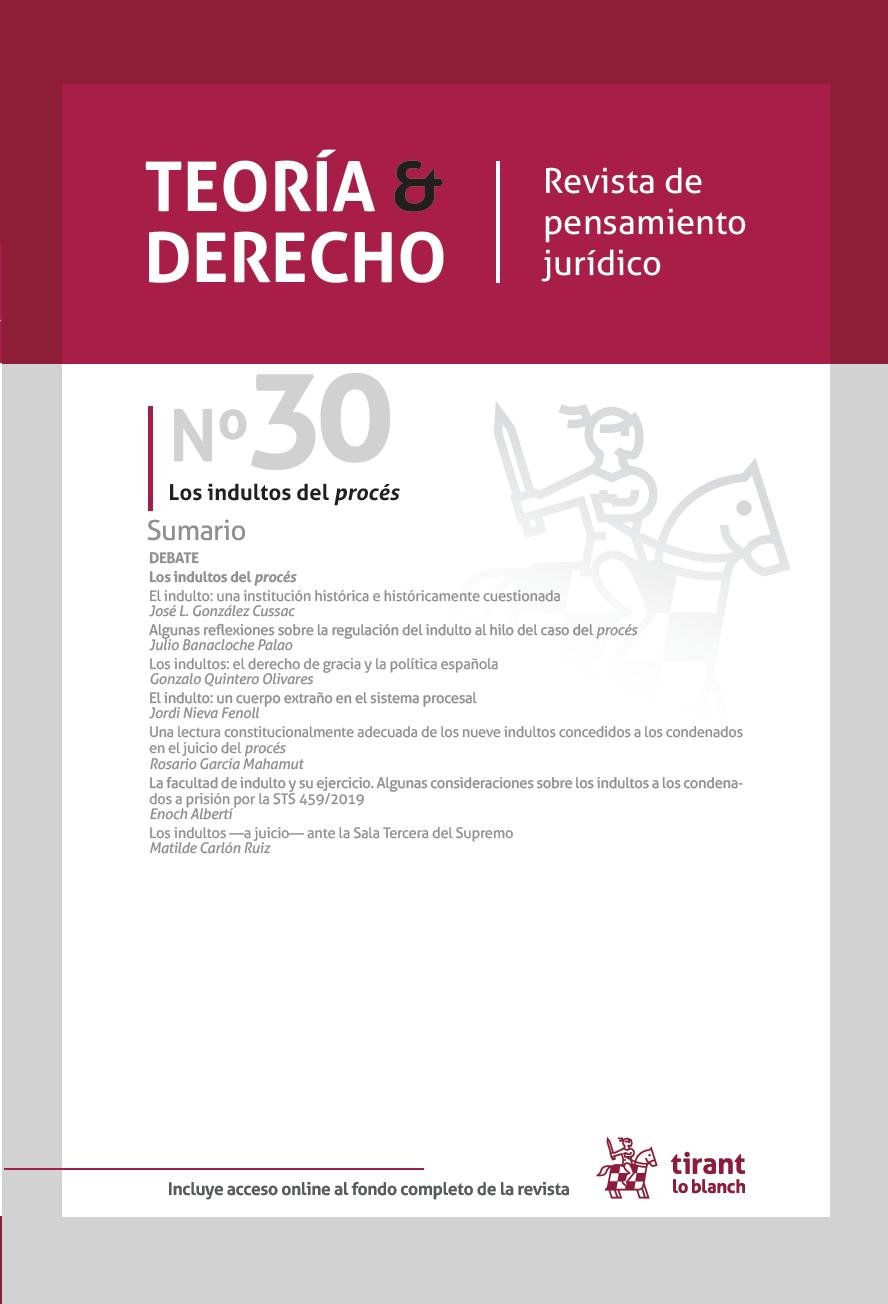 Ver Núm. 30 (2021): Número especial: Los Indultos del procés
